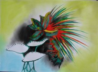Pastel and ecoline on paper, 2007
