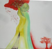Mixed media on paper, 2006