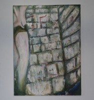 Wallpaint, acryll, colorpencil, pencil, oil, oilpastels, softpastels, charcoal, rollerball, acryllink, ink and wax on canvas, 2012
