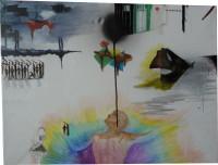 Mixed media on canvas, 2009