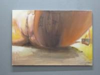 Oilpaint, enamel, oilpastels and ink on canvas, 2013