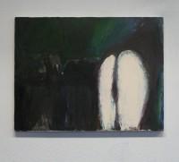 Enamel, oilpaint and oilpastels on canvas, 2013
